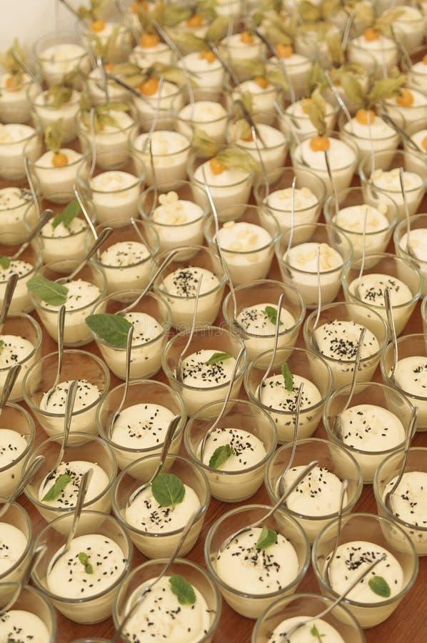 Kleine desserts stock foto's