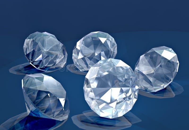 Kleine diamanten vector illustratie