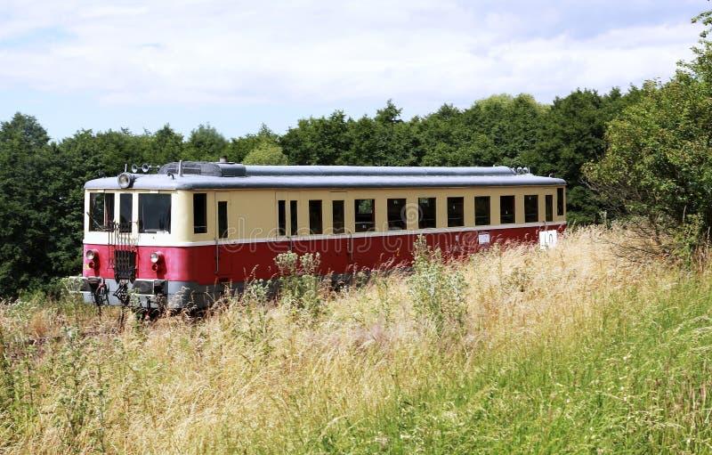 Kleine diesel trein stock foto's