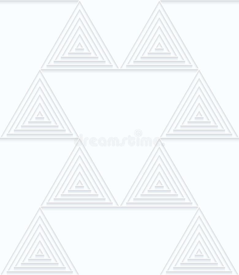 Kleine Dreiecke des Weißbuches der Rüschen mit Ausgleich lizenzfreie abbildung