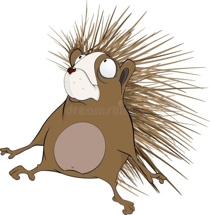 Kleine egel. Beeldverhaal stock illustratie