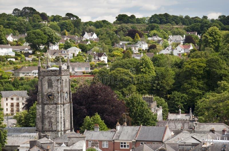 Kleine Engelse stad stock afbeeldingen