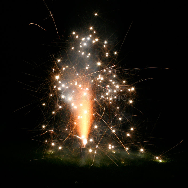 Kleine Feuerwerke Stockbilder