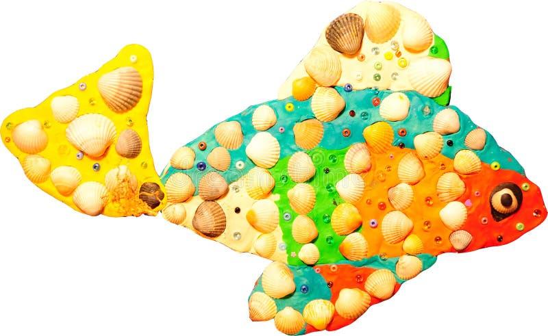 Kleine Fische des Plasticine stockfoto