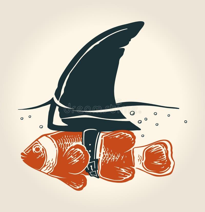 Kleine Fische mit großartiger Idee stock abbildung