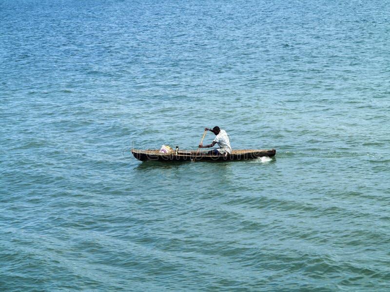 kleine Fischerboote in der Bucht oagascar, stockbilder