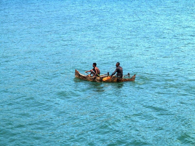 kleine Fischerboote in der Bucht oagascar, stockfotografie