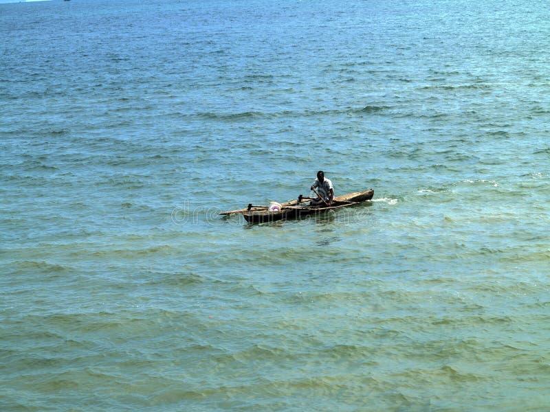 kleine Fischerboote in der Bucht oagascar, lizenzfreie stockfotografie