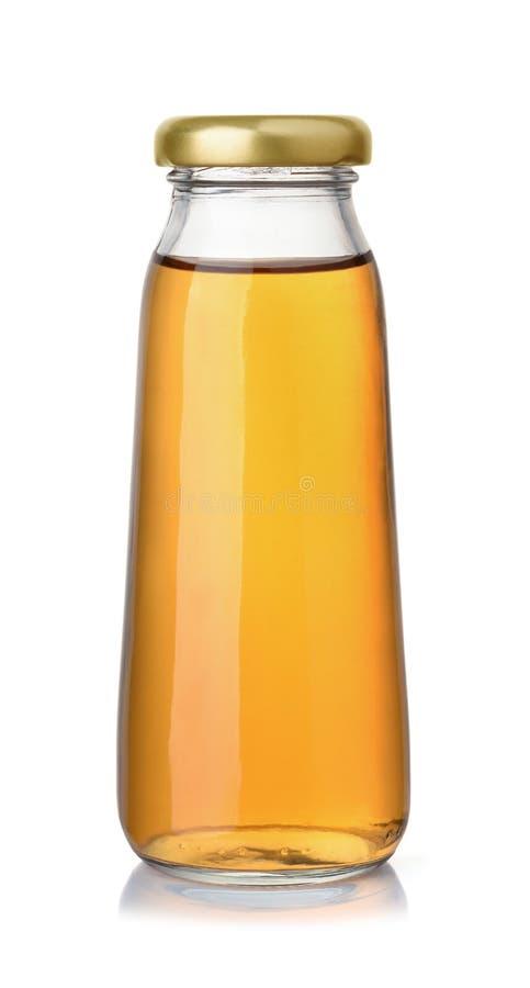 Kleine Flasche Apfelsaft lizenzfreie stockbilder