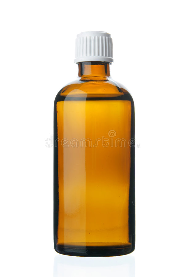 Kleine fles met drug stock afbeelding