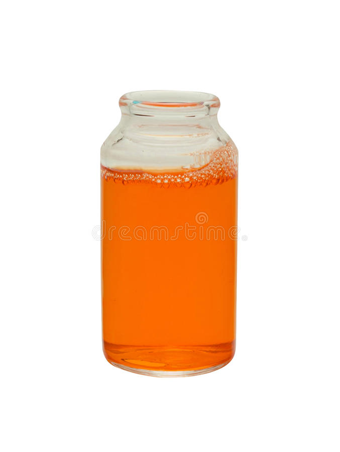Kleine fles sap stock foto's