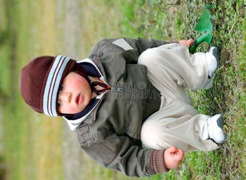 Kleine Gärtner Stockfotos