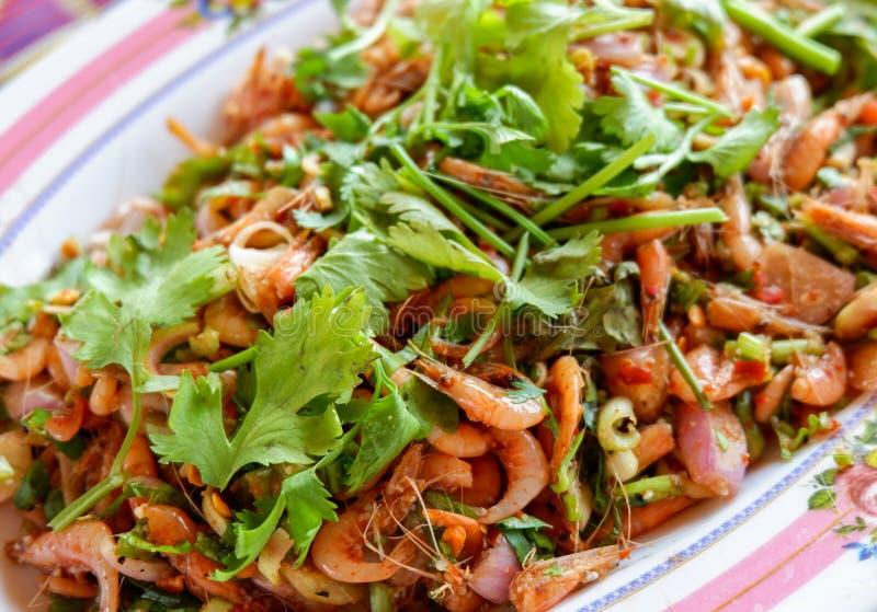 Kleine Garnele des Salats lizenzfreie stockfotografie
