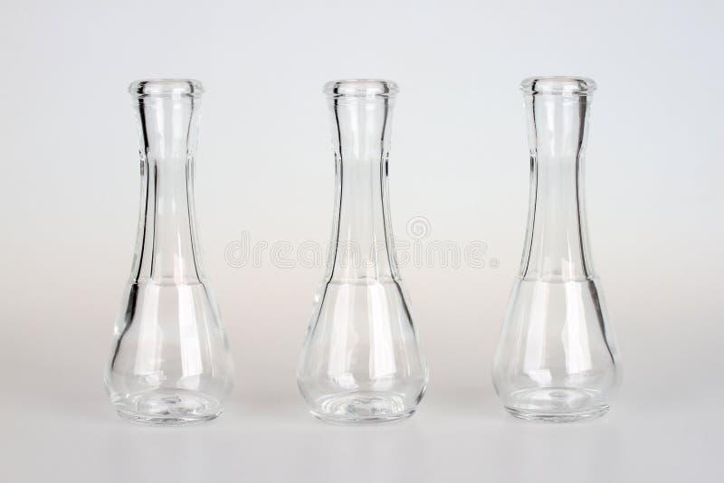 Kleine Glasflaschen stockbild