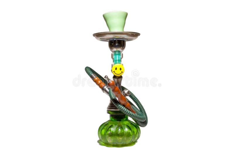 Kleine grüne Huka mit einem Lächeln lizenzfreie stockbilder
