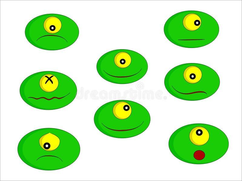 Kleine grüne Monster lizenzfreie stockbilder