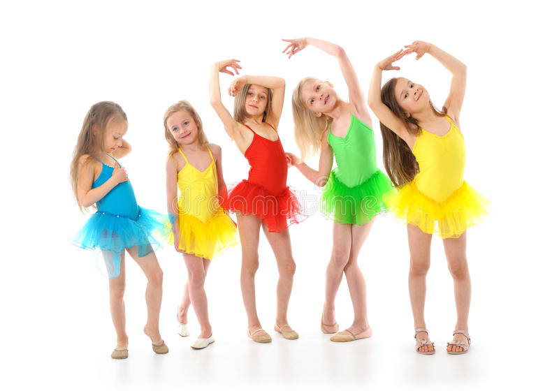 kleine grappige balletdansers royalty-vrije stock foto's