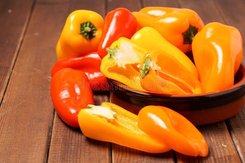 Kleine groene paprika's stock fotografie