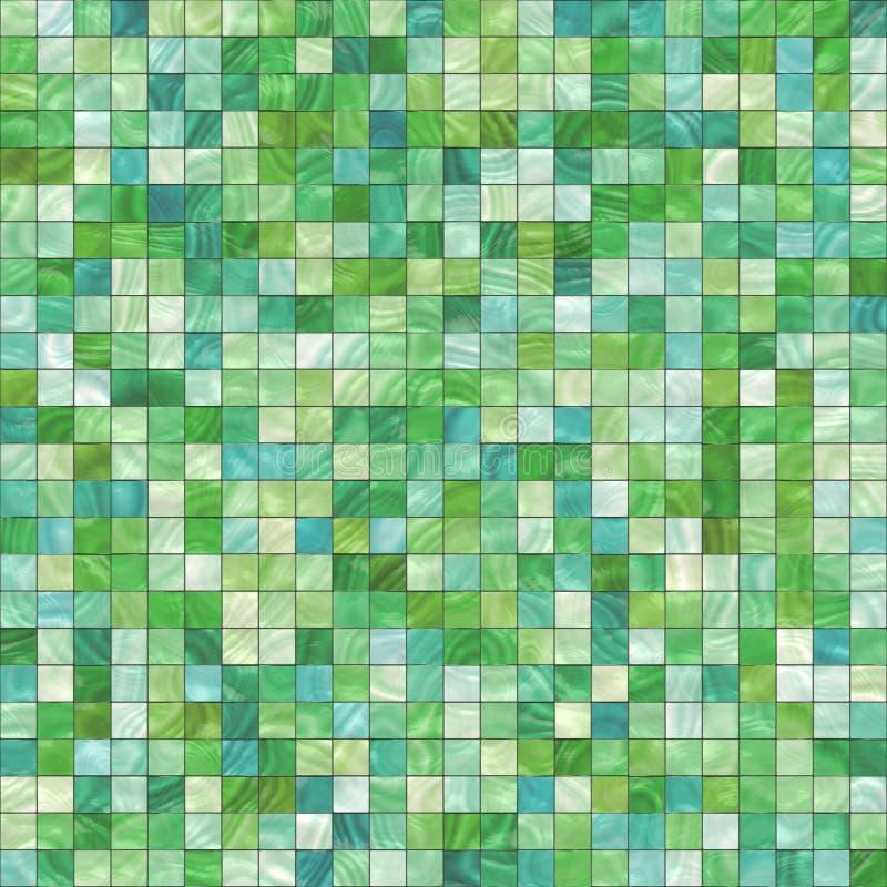 Kleine groene tegels royalty-vrije illustratie