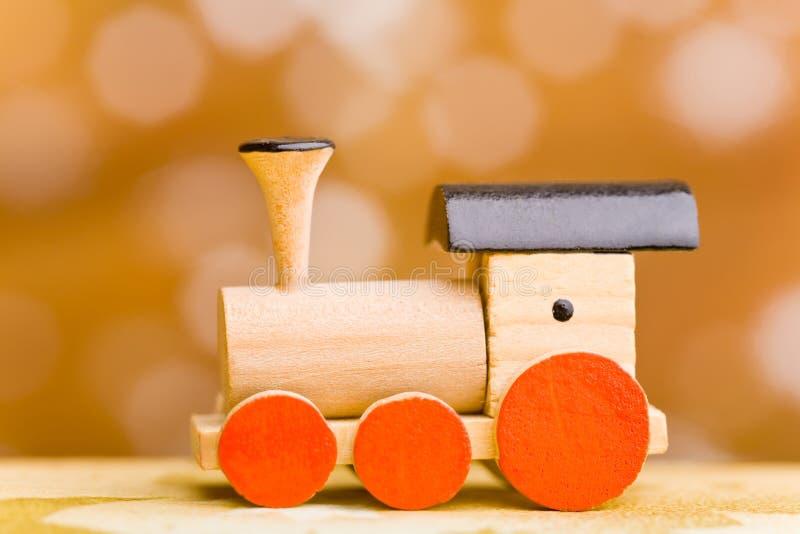 Kleine hölzerne Spielzeugserie stockfoto