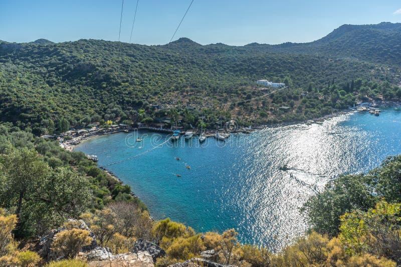 Kleine haven Kas, Turkije royalty-vrije stock fotografie
