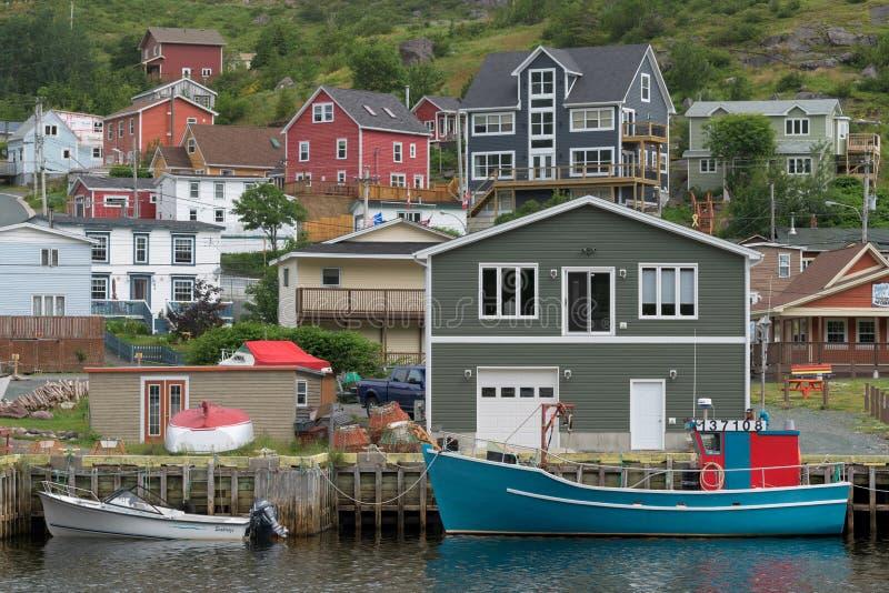 Kleine Haven in Newfoundland royalty-vrije stock afbeelding