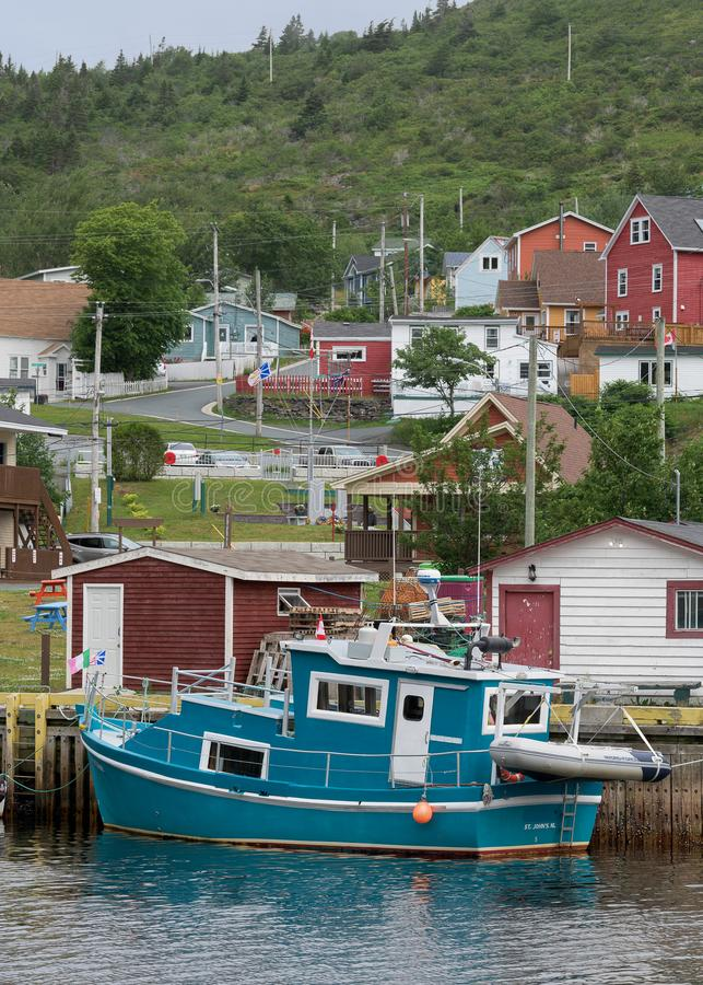 Kleine Haven in Newfoundland stock foto's