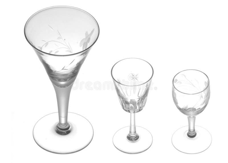 Kleine het drinken glazen stock afbeelding