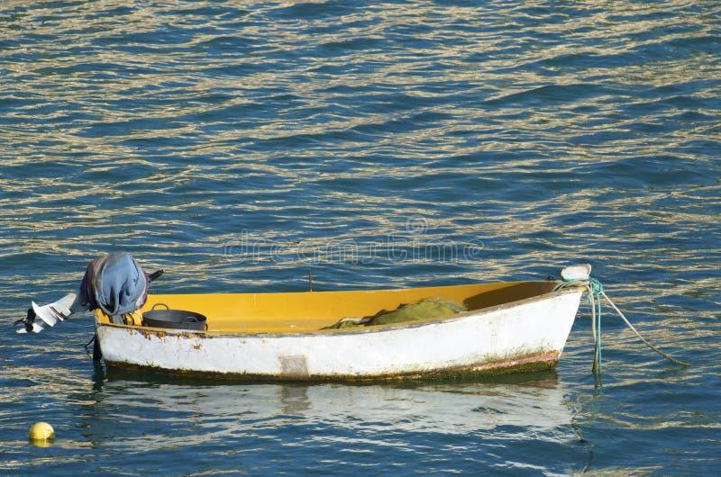 Kleine houten boot royalty-vrije stock fotografie