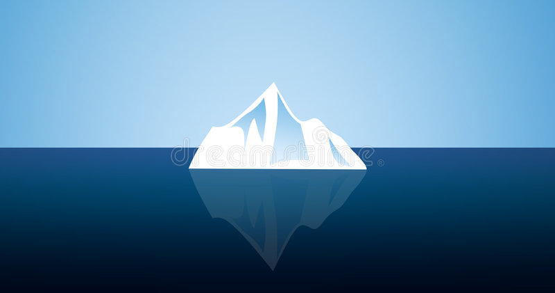 Kleine ijsberg royalty-vrije illustratie