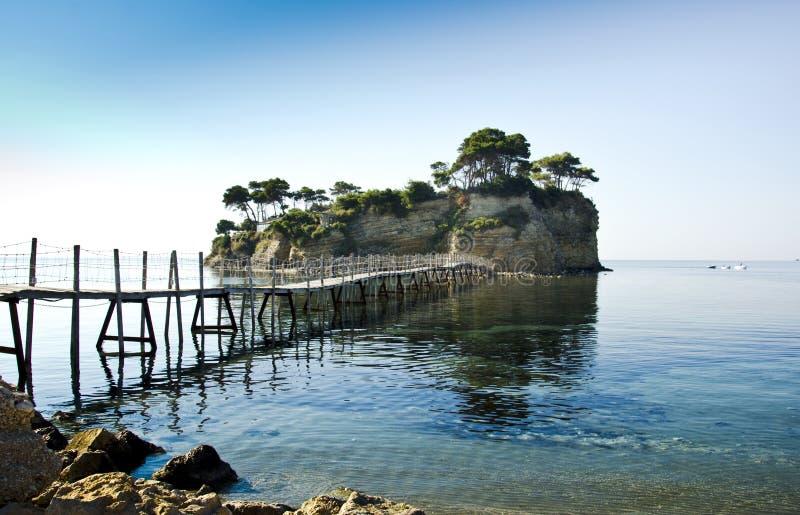 Kleine Insel in Zakynthos stockbilder