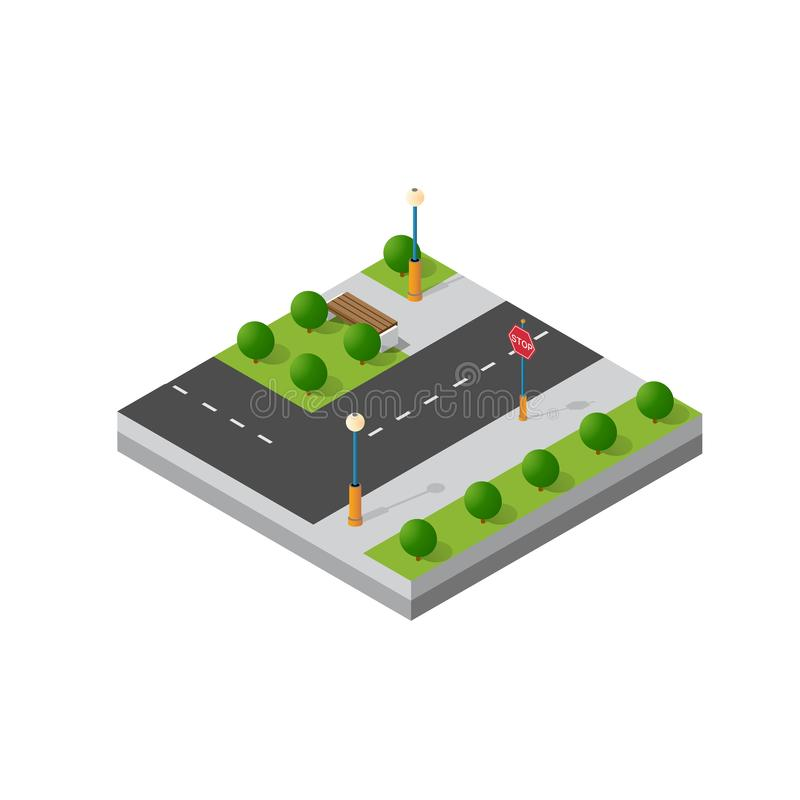 Kleine isometrische module stock illustratie