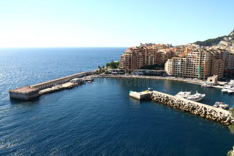 De kleine haven van Monaco royalty-vrije stock afbeelding