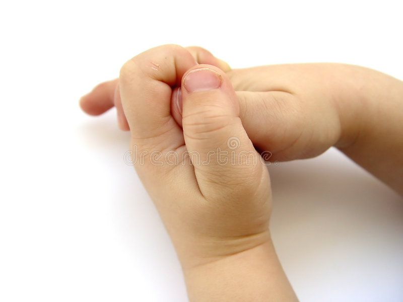 Kleine Jungen-Hände II lizenzfreie stockbilder