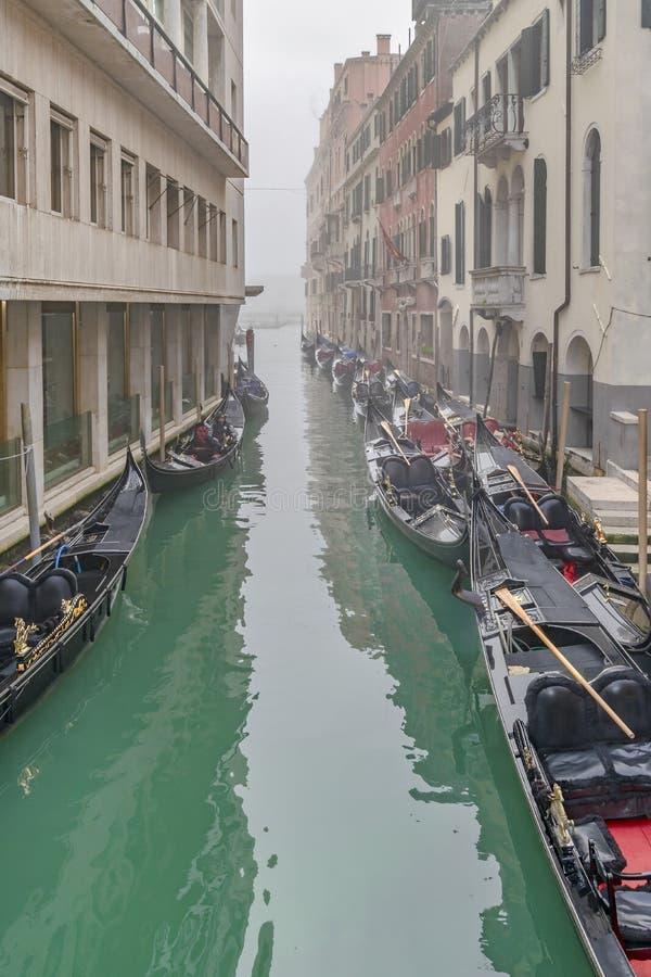 Kleine Kanaalscène, Venetië, Italië stock afbeeldingen