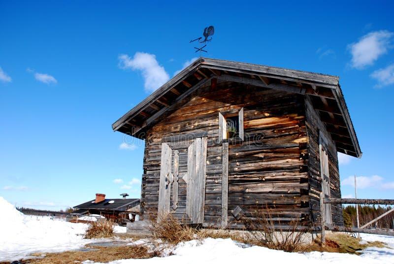 Kleine Kapelle in finnischem Lappland stockfotos