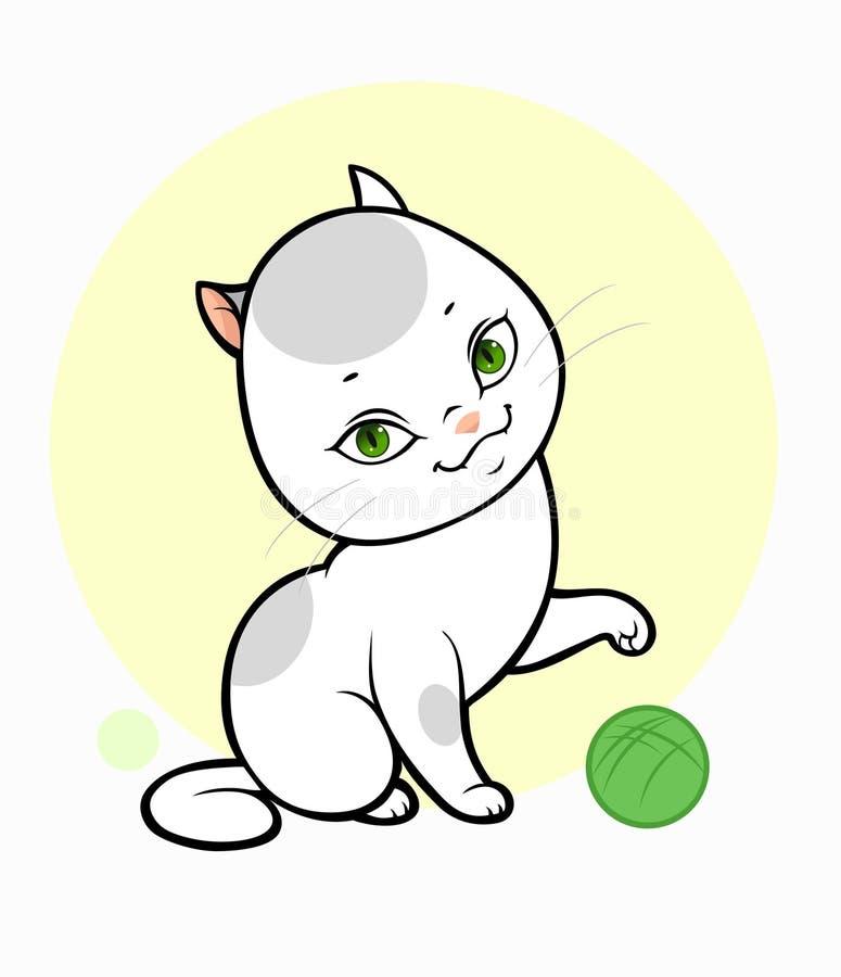 Kleine Katze und Schlaufe vektor abbildung