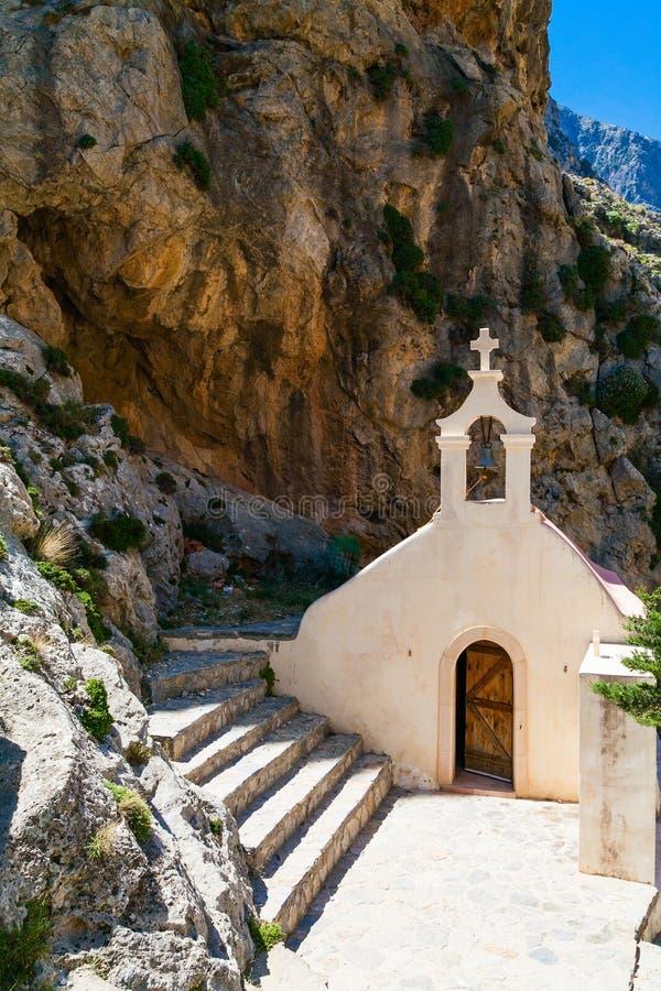 Kleine kerk van St. Nicholas in Kreta stock foto