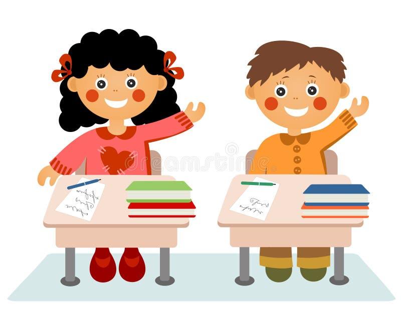 Kleine kinderen op school stock illustratie