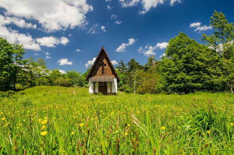 Kleine Kirche stockbild