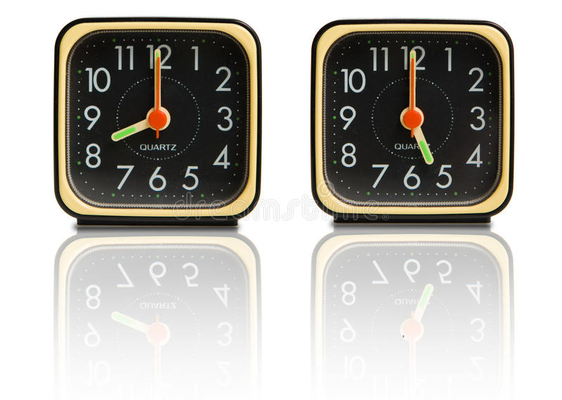 Kleine klokken die 8 tot 5 tonen stock afbeelding