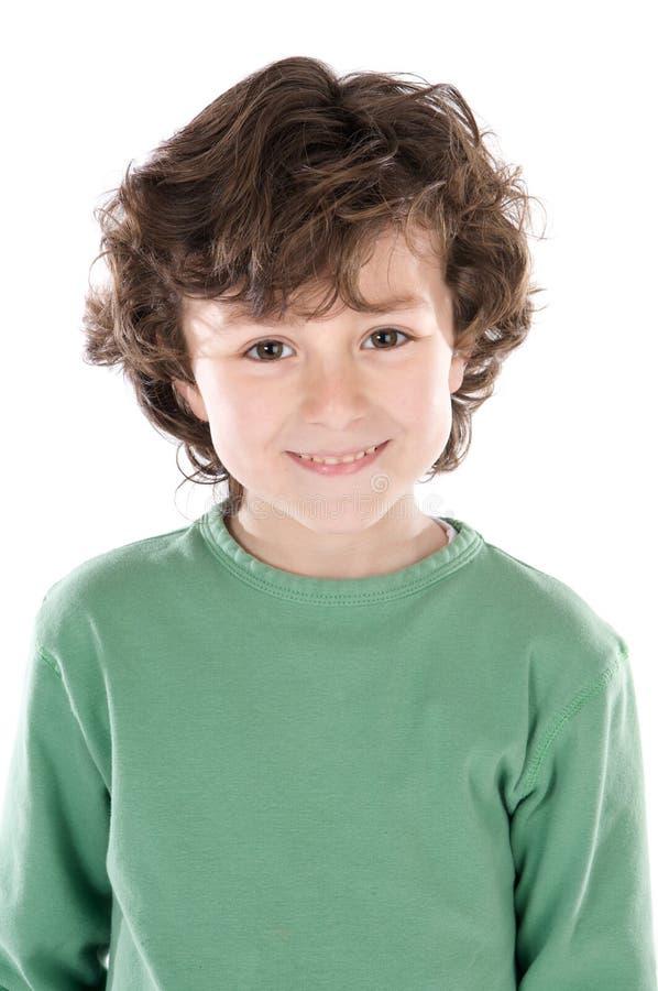 Kleine knappe jongen royalty-vrije stock fotografie