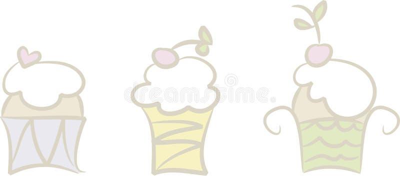 Download Kleine Kuchen (i) vektor abbildung. Illustration von drei - 9093028