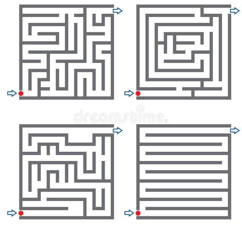 Kleine Labyrinthe vektor abbildung