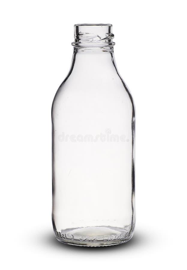 Kleine lege glasfles royalty-vrije stock foto