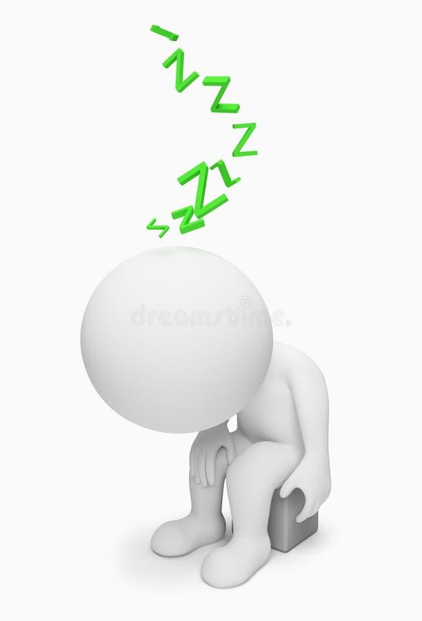 kleine Leute 3d - müde lizenzfreie abbildung