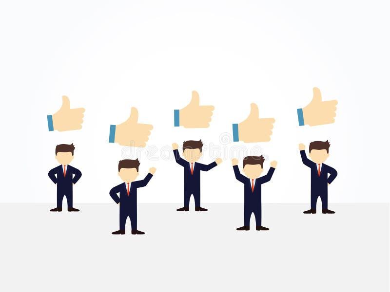 Kleine Leute der Karikaturfunktion mit gleichen Zeichen Vektorillustration für Geschäftsdesign und infographic vektor abbildung