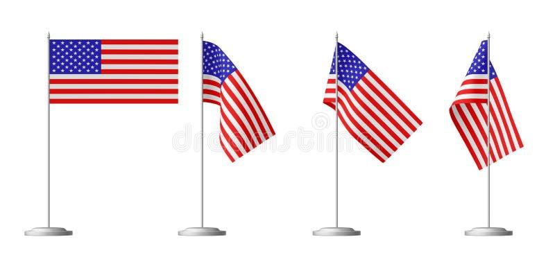 Kleine lijstvlag van de Verenigde Staten van Amerika vector illustratie