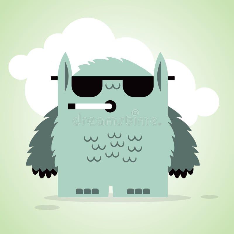 Kleine lustige Monster, die rauchen stockfotos