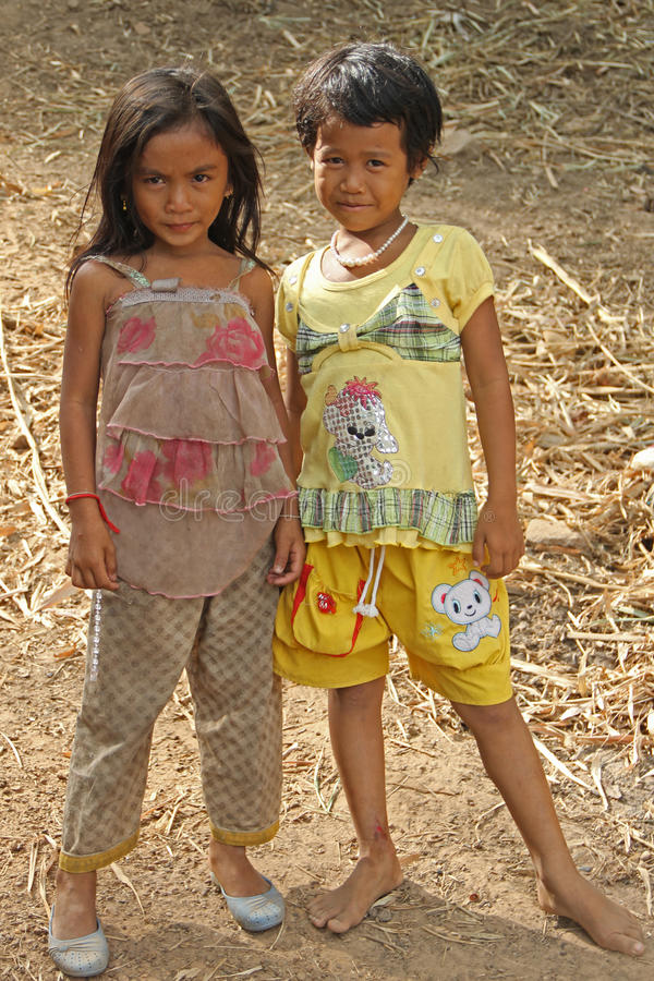 Kleine Mädchen von Kambodscha lizenzfreie stockfotos